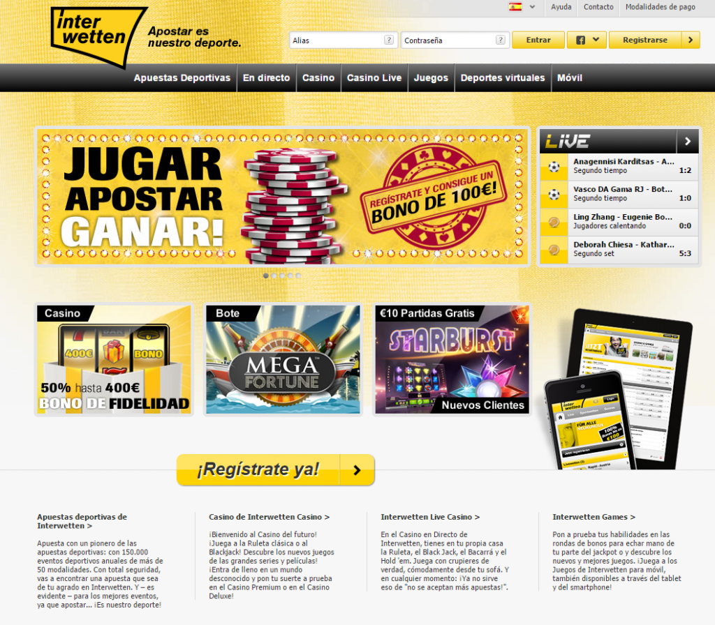 Ingresa a Interwetten Casino