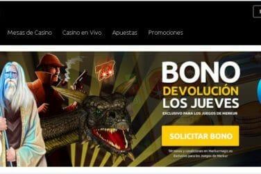 Merkurmagic Casino otorga Bono Devolución cada jueves, hasta por un máximo de 250€