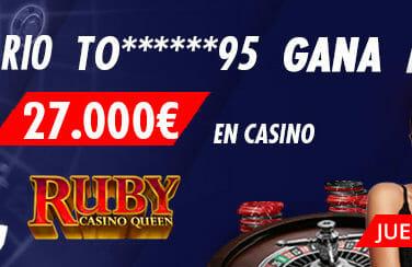 Ganador en el casino de Suertia