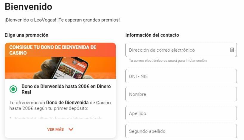 LeoVegas Casino - Bono de Bienvenida