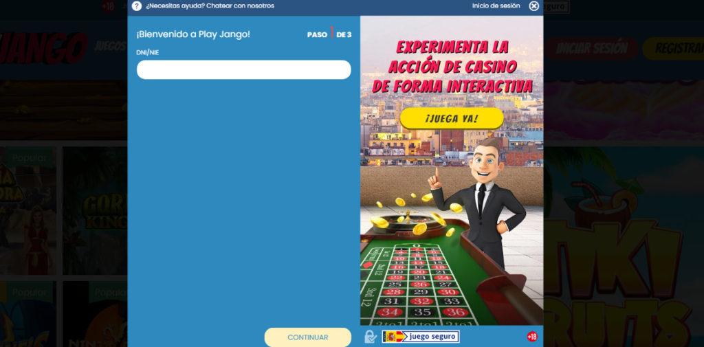Rgeístrate en PlayJango España