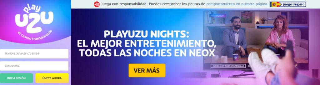 Regístrate en PlayUZU casino online