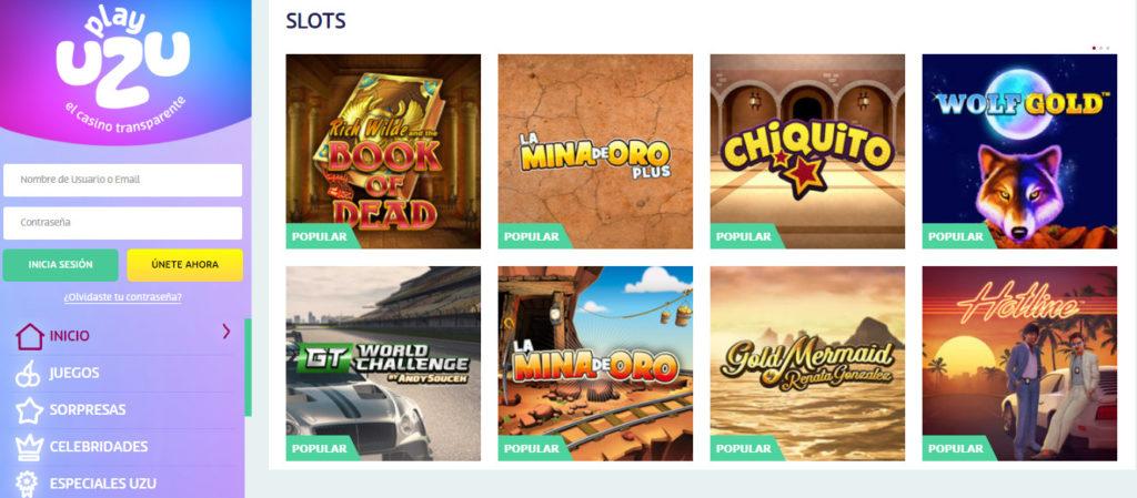 Diviértete con las máquinas tragaperras online de PlayUZU casino online