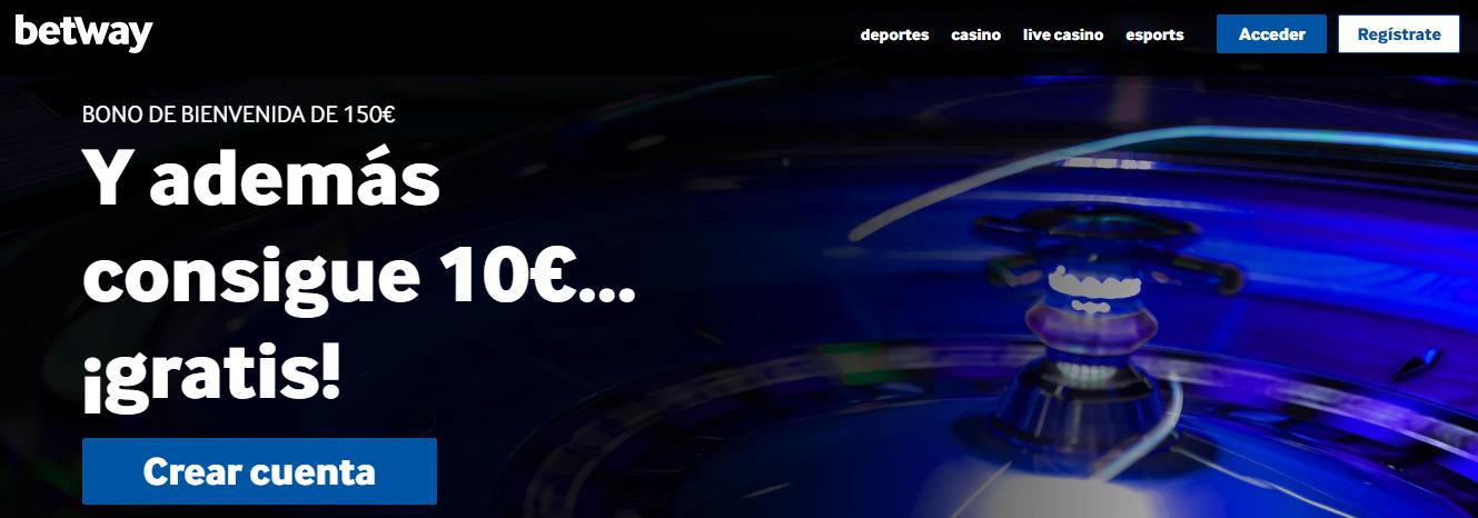 10 euros gratis te esperan en Betway casino con solo registrarte