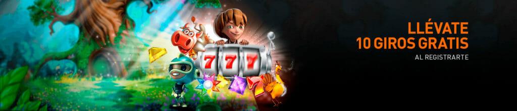 10 giros gratis en Casino 777