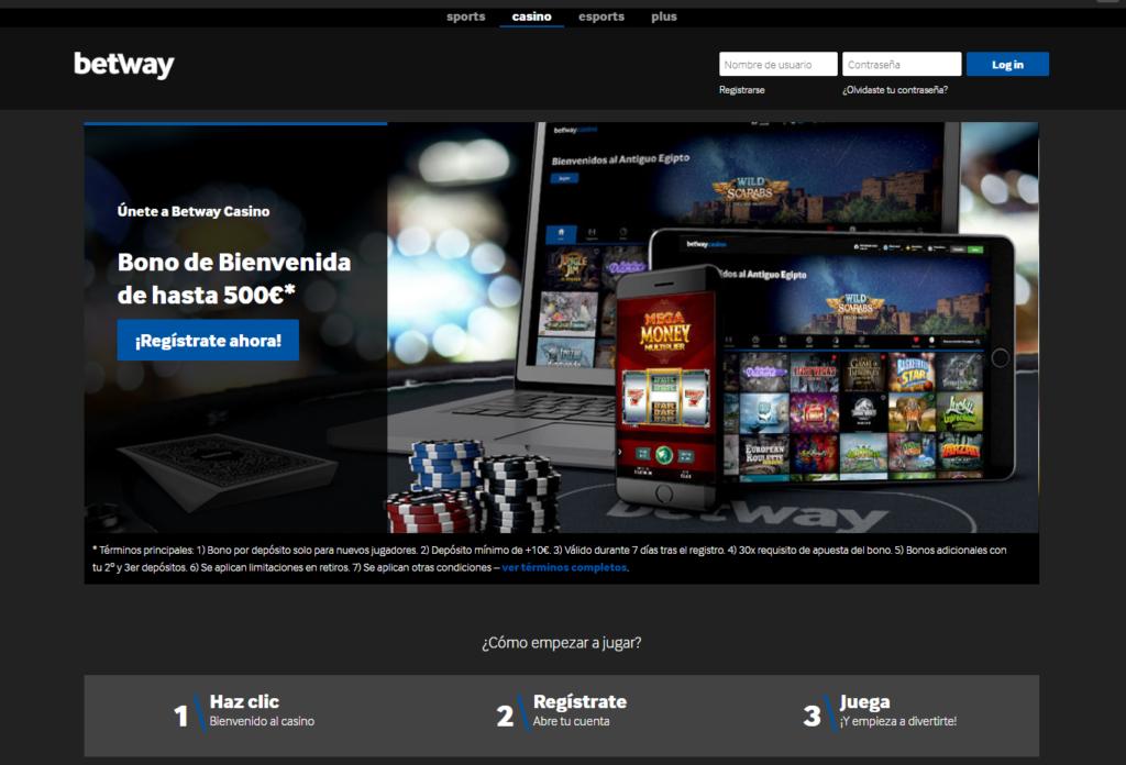 Ingresa a Betway Casino