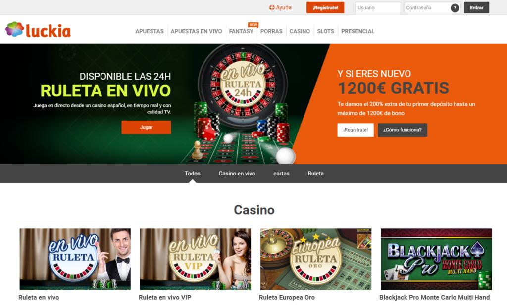 Ingresa en Luckia Casino y diviértete