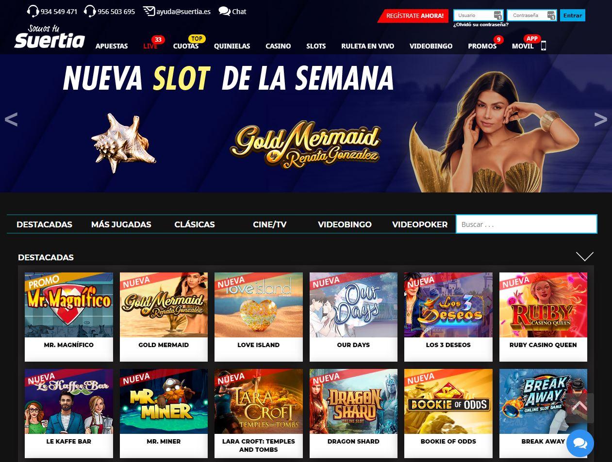 Slots en Suertia Casino