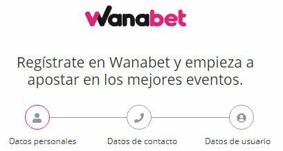 Registrate en Wanabet